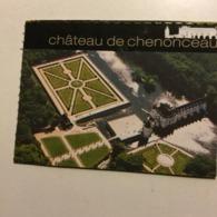 Ticket Entrée. FRANCE. Château De Chenonceau - Eintrittskarten