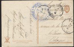 CP Obl. PMB Vers PANNE BAINS Le  21/6/16 + Cachet Centre Assistance Familles Orphelins Sans Abris Paris (x181) - Weltkrieg 1914-18