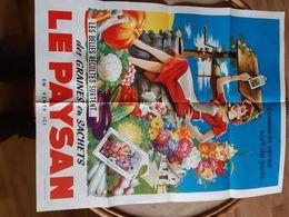 Affiche Le Paysan  Les Graines En Sachet En Vente Ici Editions Publi-vente Pariscomment La Verite Sort Du Puits - Affiches