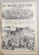 LE MONDE ILLUSTRE N° 722 1871 Siège De Paris Alimentation Ballon Poste Wagon Batterie Armistice Pub Laboratoires CARRION - 1850 - 1899