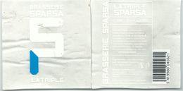 étiquette Bière Décollée Sparsa Triple Brasserie Sparsa Spa - Beer