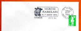 37 CHINON  RABELAIS 1994 Lettre Entière N° NO 348 - Marcophilie (Lettres)