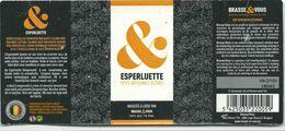étiquette Bière Décollée Esperluette Brasserie Brasse & Vous Liège - Bière
