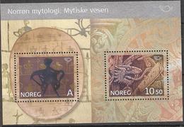 Norge Norway  2006 Norden: Nordic Myths (II) Mi Bloc 30, MNH(**) - Norwegen
