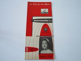 GLORIA LASSO - Disques LA VOIX DE SON MAITRE- Supplément N°3 Saison 1956- Les Derniers Disques Parus (8 Pages) - Music & Instruments