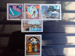 POLYNESIE.1971.1972.. Poste Aérienne N° 51.52.55.58.60. Oblitérés. Côte Yvert 2015 : 37,70 € - Poste Aérienne