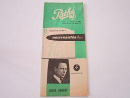LOUIS JOUVET - Disques PATHE - Supplément N°4 Saison 1956- Les Derniers Disques Parus (dépliant 3 Volets) - Musik & Instrumente