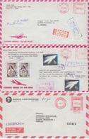 Peru - Post-/Absender-Freistempel Luftpost 2x Einschreiben/1x Express 1975/88 - Pérou