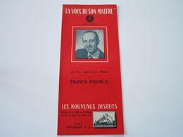 FRANCK POURCEL - Disques LA VOIX DE SON MAITRE - Supplément N°2 Saison 1955- Les Derniers Disques Parus (8 Pages) - Music & Instruments