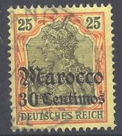 Dt. Auslandspostämter Marokko Mi.Nr.25 Gestempelt - Deutsche Post In Marokko