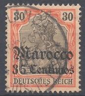 Dt. Auslandspostämter Marokko Mi.Nr. 26 Gestempelt - Deutsche Post In Marokko