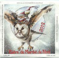 étiquette Bière Décollée Biere Du Marché De Noël Verviers 2012 BD Yannick Thiel Brasserie ? - Bière