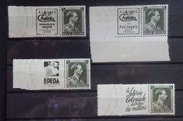 BELGIE Reclamezegels 1938  PU 107  /  PU 108  /  PU 109 En PU 111    Zie Foto     Postfris **  C W 135,00 - Advertising