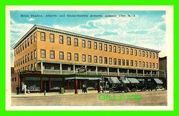 ATLANTIC CITY, NEW JERSEY - HOTEL THURBER, ATLANTIC CITY & MASSACHUSETTS AVENUES - ANIMATED OLD CARS - E. C. KROPP CO - - Atlantic City