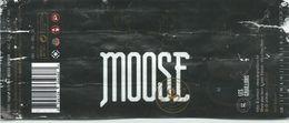 étiquette Bière Décollée Moose Brasserie Grain D'orge Hombourg - Bière