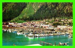 JUNEAU, ALASKA - THE BOAT HARBOR AND RESIDENTIAL DISTRICT  - C.P. JOHNSTON CO - - Juneau