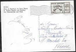 STORIA POSTALE VATICANO - SEDE VACANTE LIRE 25 ISOLATO SU CARTOLINA CON OBLTERAZIONE MECCANICA 23.X.1958 - Vatican