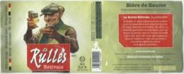 étiquette Bière Décollée Rulles Estivale Brasserie De Rulles - Bière