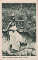 Belgisch Congo Belge Native Girl Fille Indigene Negresse Ethnique Ethnic CPA Mission Missie Van Scheut Afrique Africa - Congo Belga - Otros