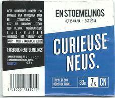 étiquette Bière Décollée Curieuse Neus Brasserie Brussels Bier - Bière