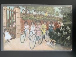 Jeunes Filles Enfants à Vélo , Bicyclette Série 362 - Groepen Kinderen En Familie