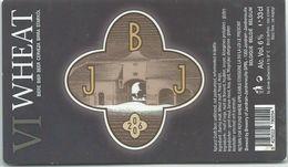 étiquette Bière Décollée VI Wheat Brasserie De Jandrain-Jandrenouille - Bière