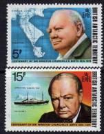 Antarctique Britanique N° 62 / 63 XX Centenaire De La Naissance  De Sir Winston Churchill La Paire Ss Ch., TB - Territorio Antártico Británico  (BAT)