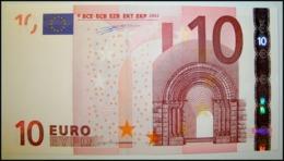 AUSTRIA 10 EURO F002 E3/N DUISENBERG  UNC. - EURO
