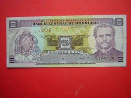 1 BILLET  BANCO CENTRAL DE HONDURAS 2 DOS LEMPIRA   30 DE AGOSTO DE 2001 - Honduras