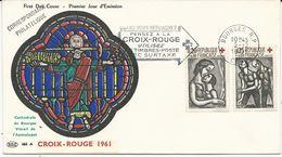 ENVELOPPE FDC CROIX ROUGE 1961 - 1960-1969