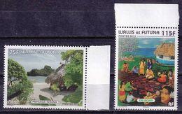 Wallis 2012 Tekena Beach Fai Koka Landscapes 2v MNH - Wallis Y Futuna