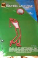 AFFICHE TROPHEE LANCOME 1987 St.NOM La BRETECHE  Dessinée Par Klasen - Golf