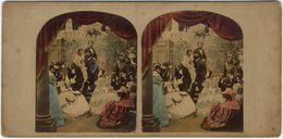 Vue Stéréoscopique, Amusante Scène De Genre. Paris. Tirage Albuminé Colorisé C 1865,  FG1598 - Fotos Estereoscópicas