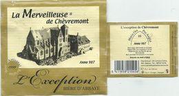 étiquette Bière Décollée La Merveilleuse De Chèvremont L'exception Brasserie ? - Beer