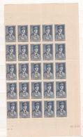 TIMBRE ALGERIE N° 168 PLANCHE DE 25 TIMBRES COIN DATE     NEUF  SANS CHARNIERE - Algérie (1962-...)