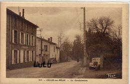 DEPT 79 : édit. Marceau Carrière N° 576 : Celles Sur Belle La Gendarmerie ( Voiture Peugeot ) - Celles-sur-Belle