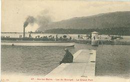 Aix-les-Bains; Lac Du Bourget. Le Grand Port (avec Pêcheur) - Voyagé. (J.S.) - Aix Les Bains