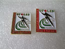 PIN'S   LOT 2  UFOLEP  NATIONAUX ATHLETISME  HASSIEU - Athlétisme