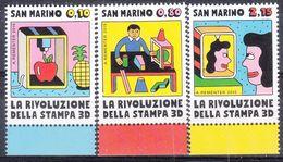 San Marino - 2015 - La Rivoluzione Della Stamp 3D - Nuovi - Nuevos