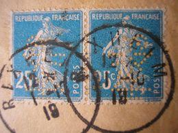 FRANCE - SUPERBE Enveloppe Recommandée De Louis Zuber De RIXHEIM Avec 2 TP Perforés ( Perfo. Rare) Postée Le 1/10/19 - France
