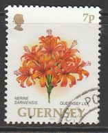 Guernsey 1993 Flowers 7p Multicolored SW 596 Used - Guernsey
