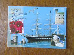 Souvenir De Charente Maritime ( 17 ) Bateau Le Belem   Ford Boyard Les Tours De La Rochelle - Souvenir De...