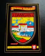 Carte Postale- Damgan - Blason Adhésif - Villes Et Provinces De France - Damgan
