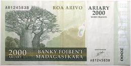 Madagascar - 2000 Ariary - 2003 - PICK 83 - TTB+ - Madagascar