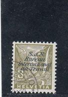 Suisse - Année 1936 - Service - Oblitéré - N°Zumstein 38 - BIT - Paysages TG - Service