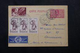 MADAGASCAR - Entier Postal + Compléments De Tananarive Pour La France En 1955 - L 63048 - Madagascar (1889-1960)