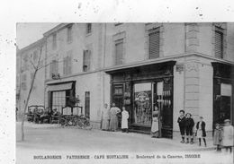 ISSOIRE BOULEVARDE LA CASERNE BOULANGERIE PATISSERIE CAFE HOSTALIER RARE - Issoire