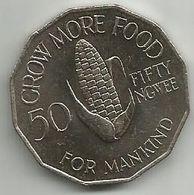 Zambia 50 Ngwee 1972. KM#15  FAO UNC - Zambia