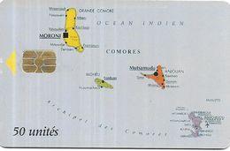 @+ TC Des Comores : Map Of Comores (Comores Telecom Logo) - 50U -  AX03 ( Ref : KM-COT-0002A ) - Comore