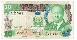 Kenya 10 Shillings 01/07/1987 - Kenya